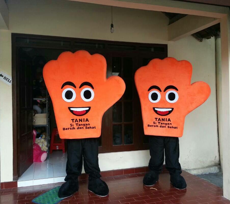Boneka Maskot Badut TANIA si Tangan Bersih dan Sehat
