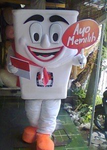 Produsen Badut Maskot KPU Si Kora di Yogyakarta