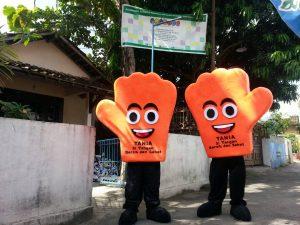 Produsen Boneka Maskot Badut TANIA si Tangan Bersih dan Sehat