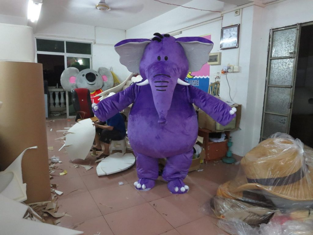 Produsen Badut Maskot Gajah Ungu di Jogja