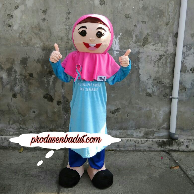 Produsen Badut Maskot Aisyiyah Muhammadiyah untuk Kampanye Kanker Rahim