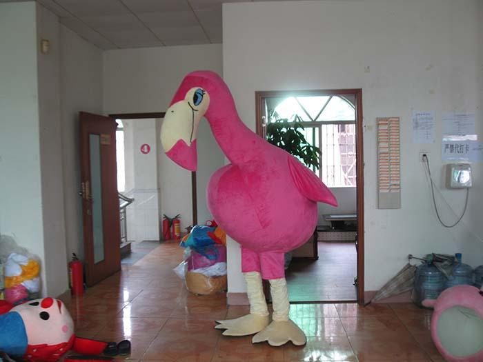 Produsen Kostum Badut Karakter Burung Flamingo Pink