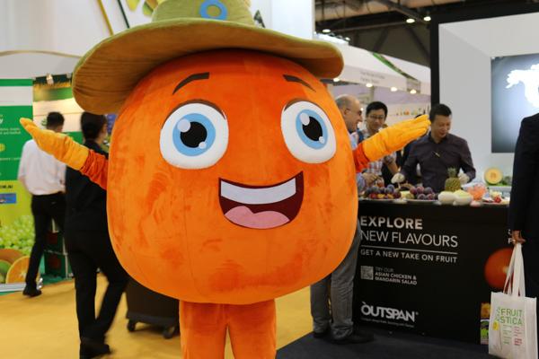 Produsen Badut Maskot Asia Fruit Logistica 2015