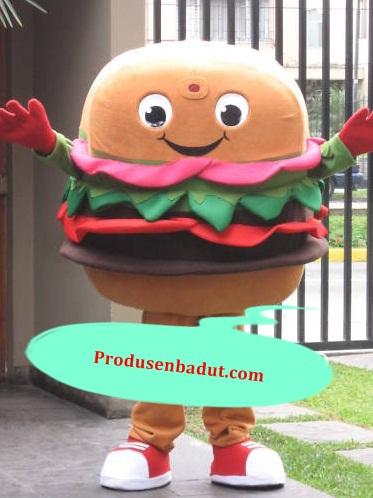 Produsen Badut Maskot Cafe Karakter Hamburger
