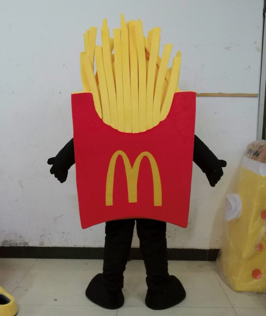 Produsen Badut Maskot French Fries ala McDonald's