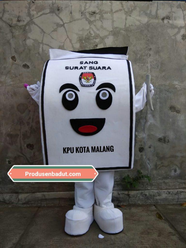 Pembuat Badut KPU Kota Malang Pemilu Serentak 2019