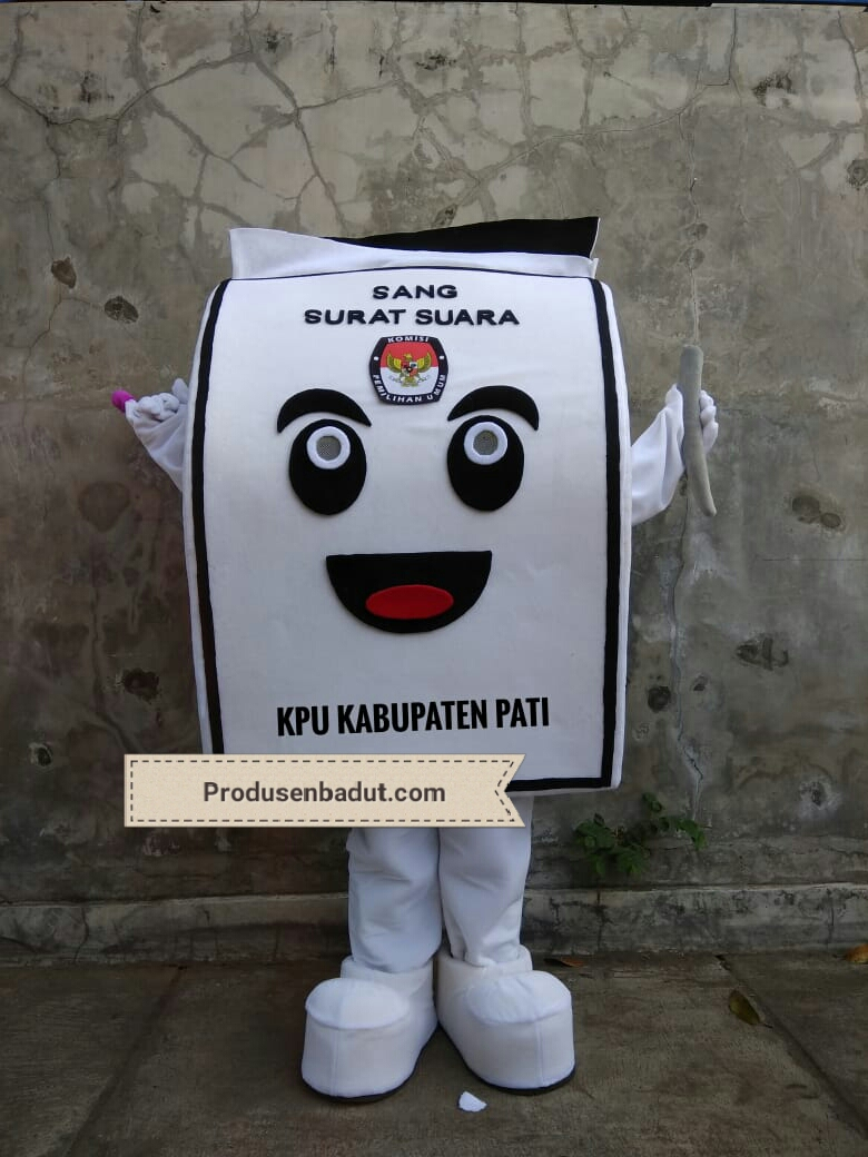 Pembuat Badut Maskot Pemilu Serentak KPU Kabupaten Pati