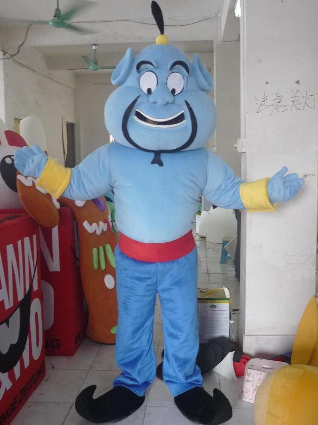 Layanan Pembuatan Badut Promosi Animasi Aladdin Tokoh Jin
