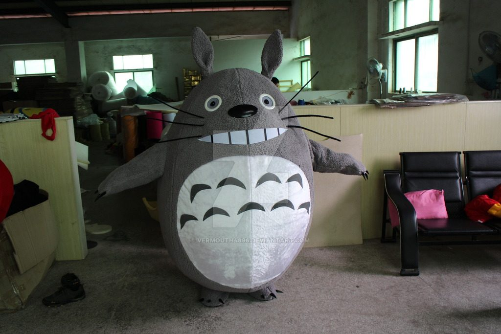 Pembuat Kostum Badut Totoro Serial Anime