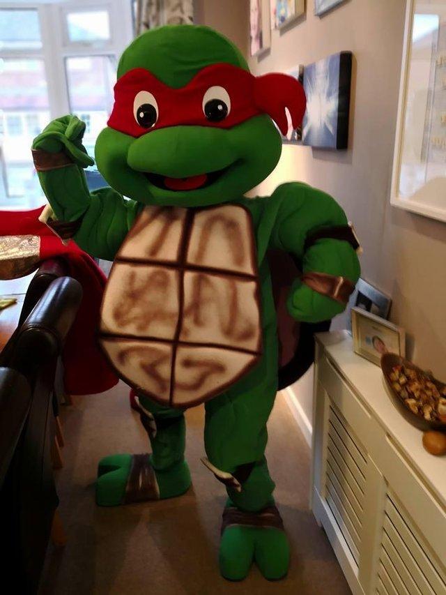 Kostum Badut Teenage Mutan Ninja Turtle Lucu