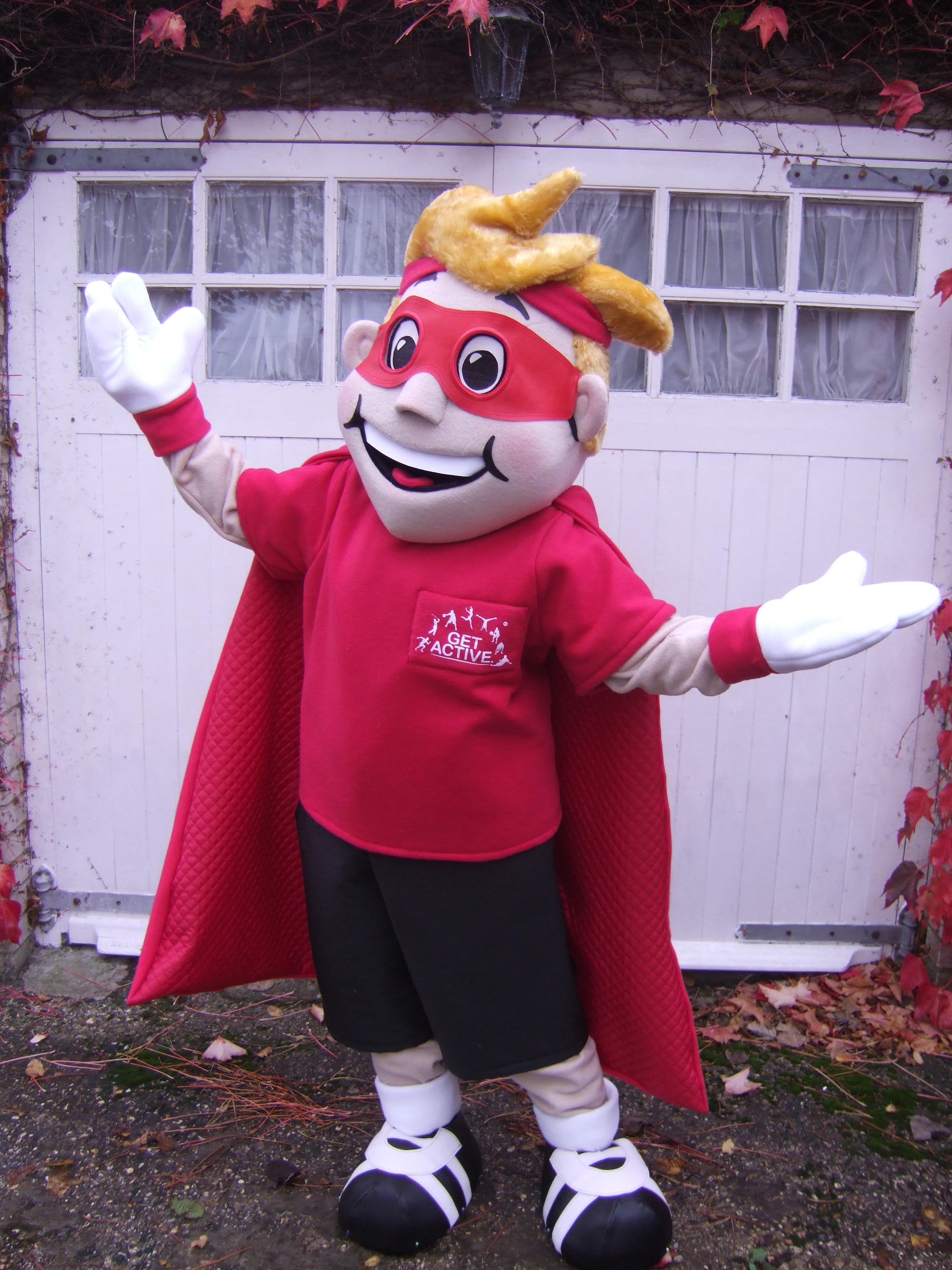 Produsen Badut Pahlawan Super Red Costume