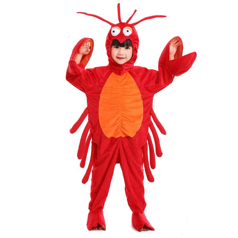 Kostum Badut Anak Kepiting Merah