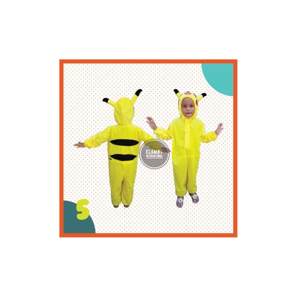 Kostum Anak Animasi Pikachu Lucu