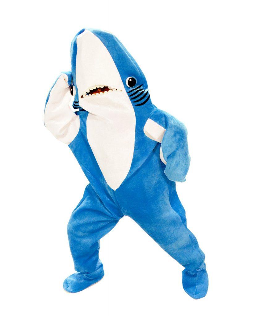 Kostum Badut Shark Lucu in Blue