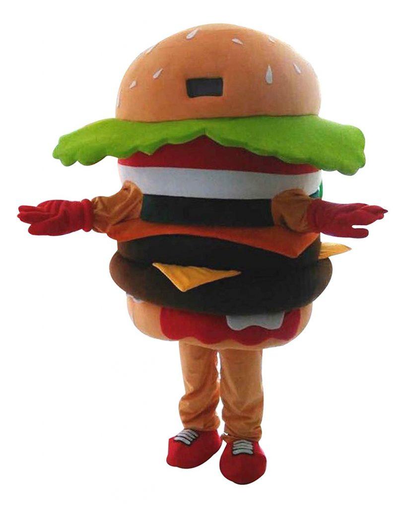 Kostum Badut Hamburger Murah untuk Promosi