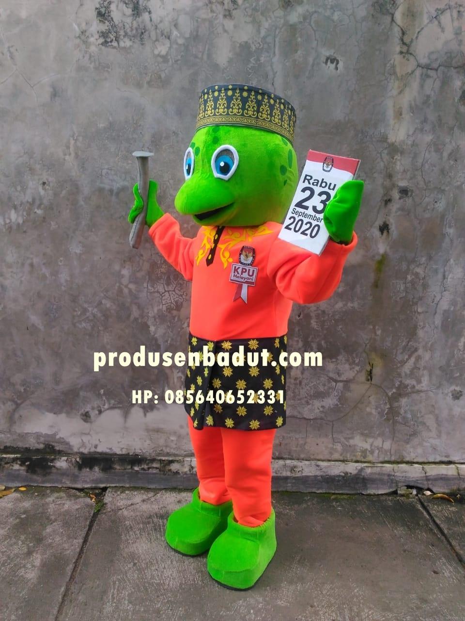Produsen Badut Maskot Penyu Hijau KPU Sambas Kalbar